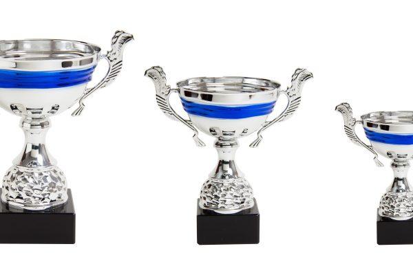 Trofeo 02 Mod. Mezza Azul Plata